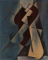 half figure (seated figure) by lorser feitelson