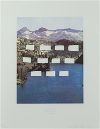 be careful else we be bangin on you you hear me? (from the country cityscapes series) by ed ruscha
