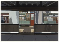 subway car (from urban landscapes iii) by richard estes