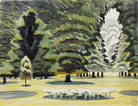 sunlight in park by charles ephraim burchfield