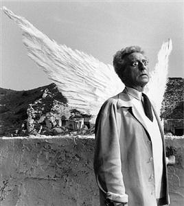 jean cocteau as the poet and the sphinx, testament of orpheus, les baux de provence by lucien clergue
