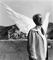 jean cocteau as the poet and the sphinx, testament of orpheus, les baux de provence by lucien clergue
