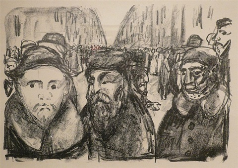 genthinerstrasse in berlin after the war by edvard munch