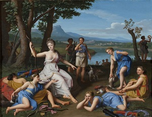 diana returning from the hunt by nicolas colombel