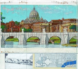ponte san angelo - project for rome by christo and jeanne-claude