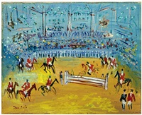 demonstration equestre by jean dufy