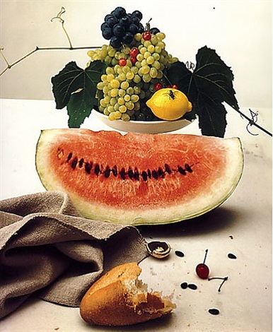 still life with watermelon by irving penn