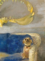 a dog and the great white shark jaw by jamie wyeth