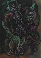 deux personnages transparents by francis picabia