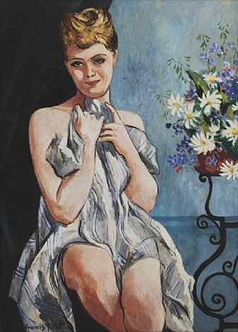 femme au bouquet by francis picabia