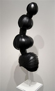black paper updo wig by paper-cut-project