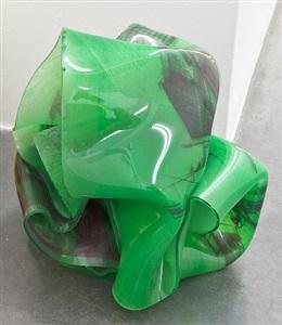 """hanoi #3"" rot grün by paul schwer"