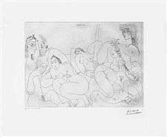 clin d'oeil au bain turc femmes faisant la sieste au soleil, from the 347 series, 20 august by pablo picasso
