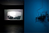 installation view of reel to reel by jeff shore and jon fisher