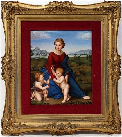 lot no. 2046: after raphael's 'madonna on belvedere' by kpm - königliche porzellan-manufaktur (co.)