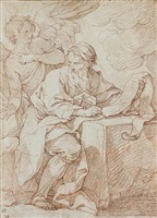 saint matthew and the angel by charles joseph natoire