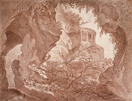 temple of the vesta, view from the grotto of neptune by frederic reclam