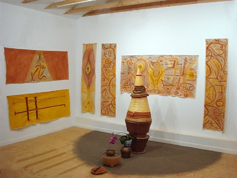 installation view of wu xing: five elements