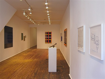8 eight american abstract artists | selections from the exhibition abstraction &#8734 | installation view (front room)