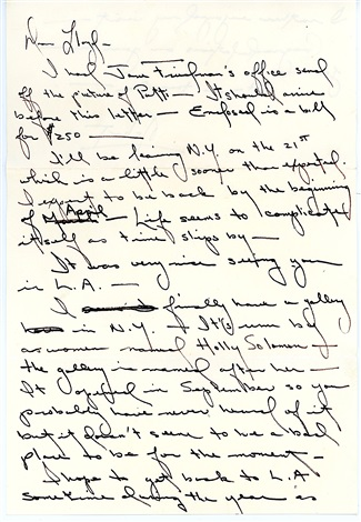handwritten letter to lloyd ziff by robert mapplethorpe