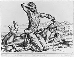 two boys on a beach #1 by paul cadmus