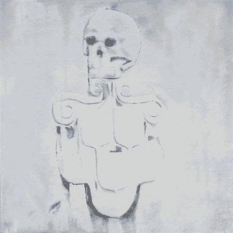 dead skull by luc tuymans