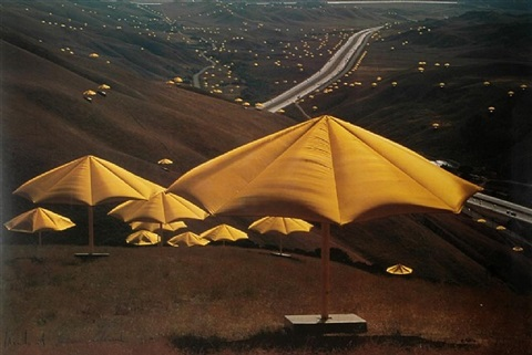 the umbrellas californien by christo and jeanne-claude