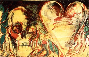 yellowheart and a devil by jim dine