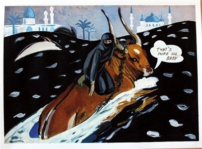 """aus der serie """"russisches album"""", der raub der europa (that's pure oil, baby!) by aleksandra koneva"""