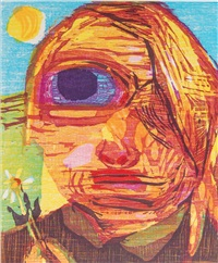 untitled (one eyed girl) by dana schutz