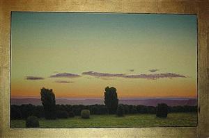 two trees, violet cloud by john beerman