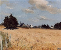 village of kerjouano, france by marcel dyf