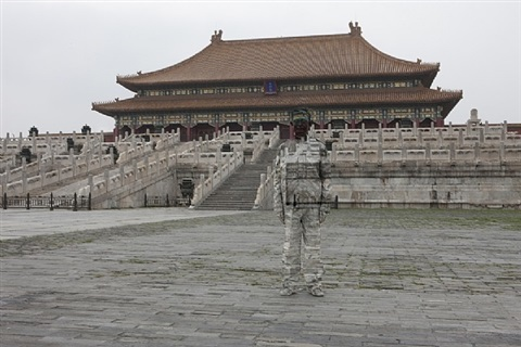 hiding in the city no 89 forbidden city by liu bolin
