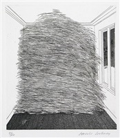 a room full of straw (from the story rumpelstilzchen) by david hockney