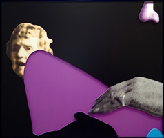 arms & legs (specif. elbows & knees), etc. (part two): elbow (with onlookers) by john baldessari