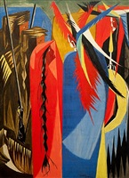 conciliatory manner (no. 18 from the struggle series) by jacob lawrence