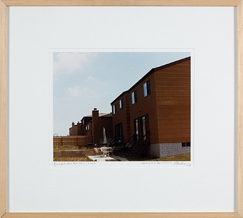 backyard, new tract house, summer, staten island, new york, n.y. by dan graham