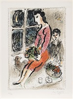 le corsage violet by marc chagall