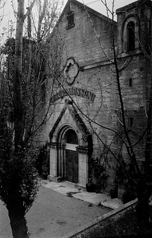facade of the old paul masson winery by ansel adams