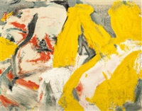 the man and the big blonde by willem de kooning