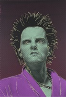 punk gunslinger pink and purple by gavin turk