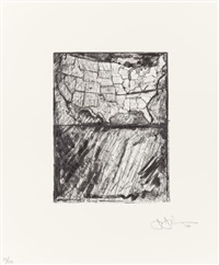 map (from the portfolio artists for obama) by jasper johns