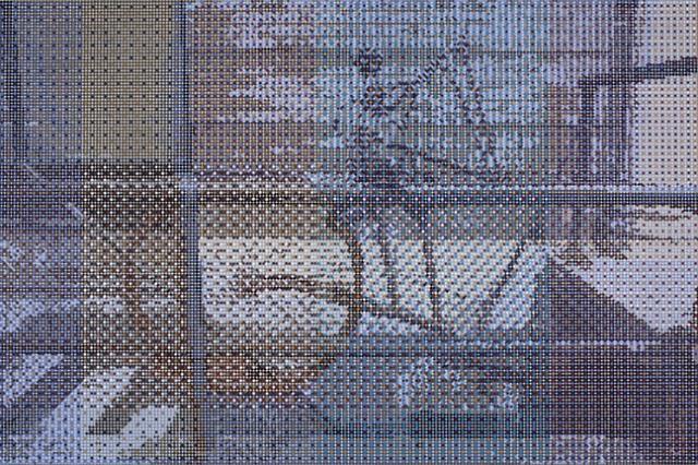 broken bicycle on a railing by gabriel orozco