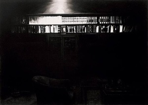 the freud cycle (book case in study room) by robert longo