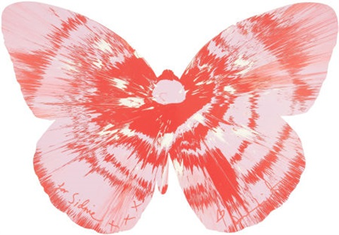 untitled butterfly spin painting by damien hirst