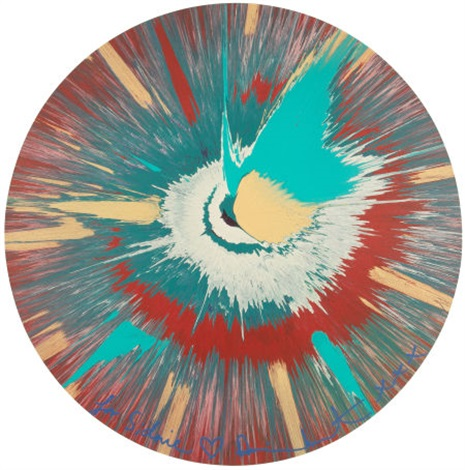 untitled circle spin painting by damien hirst
