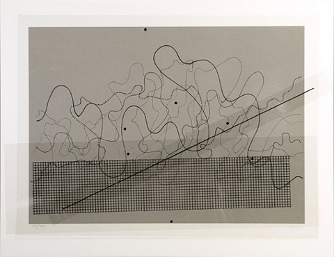 fontana mix (dark grey) by john cage