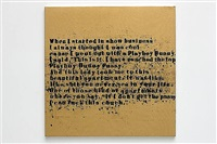 gold in show business #1 by glenn ligon