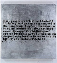 silver therapy #1 by glenn ligon