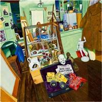 untitled (artist in the studio) by lawrence steven faden
